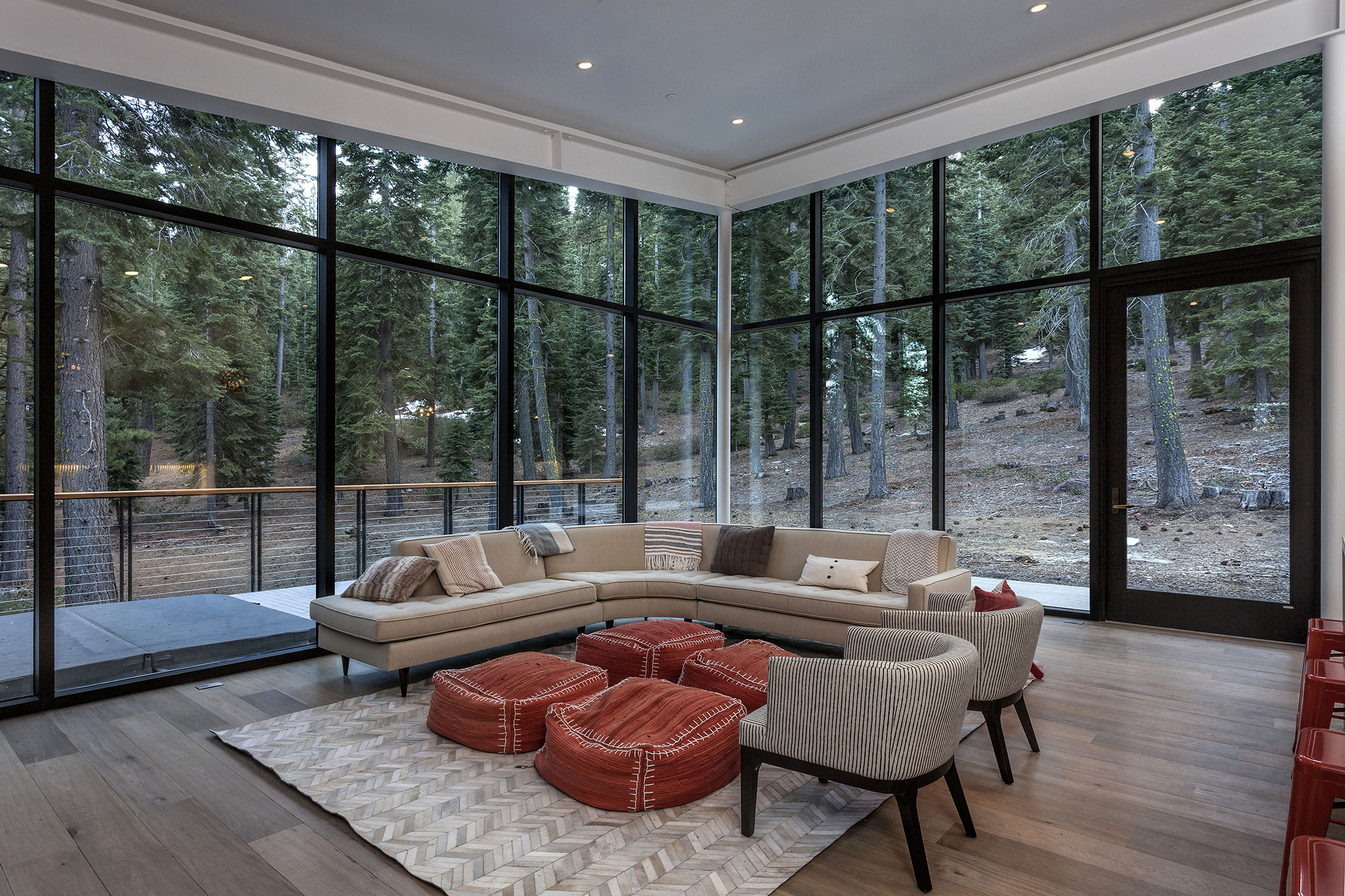 Living room with view home interior design ©brick-inc