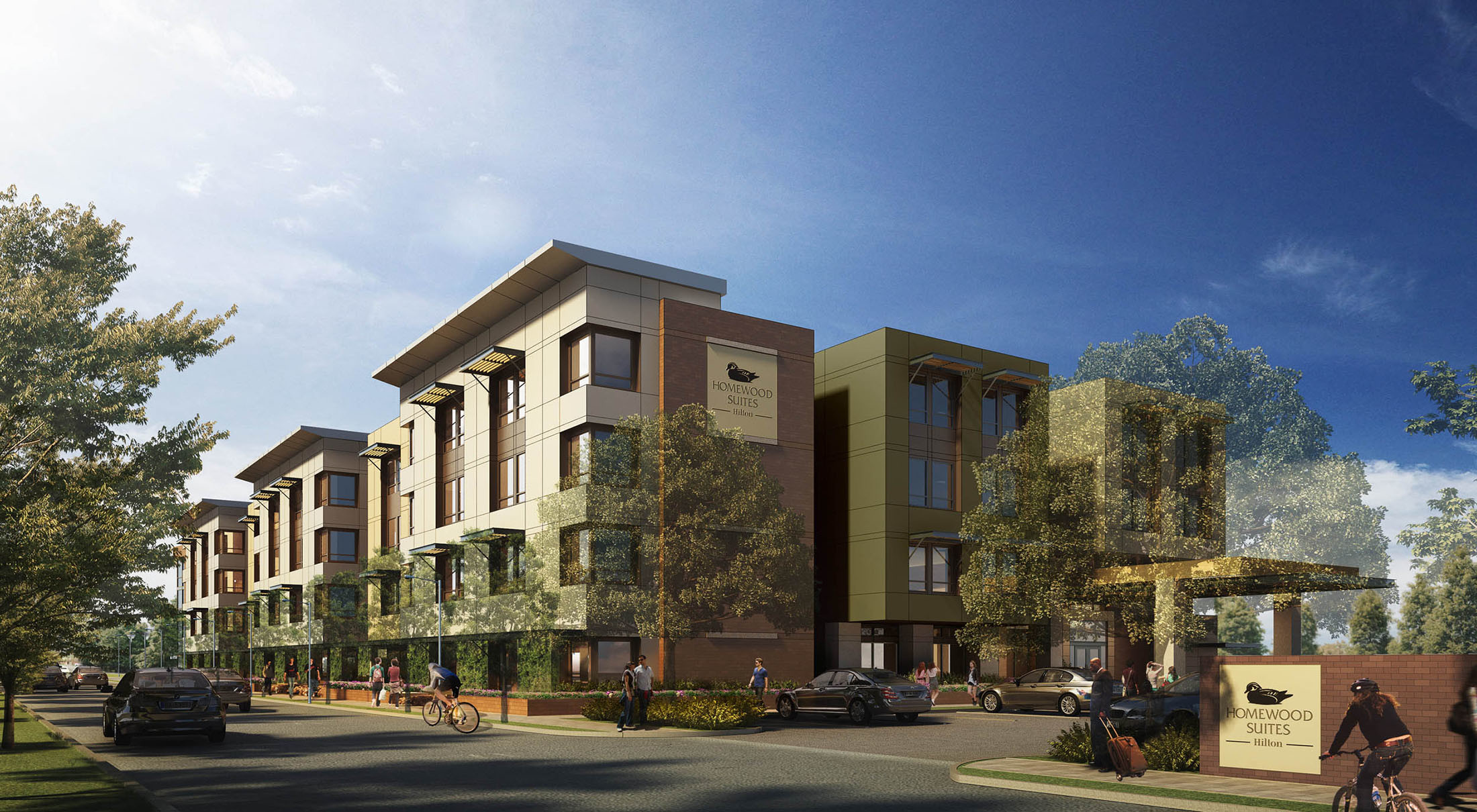 Exterior Homewood Suites Palo Alto Hotel Architecture Design ©brick-inc