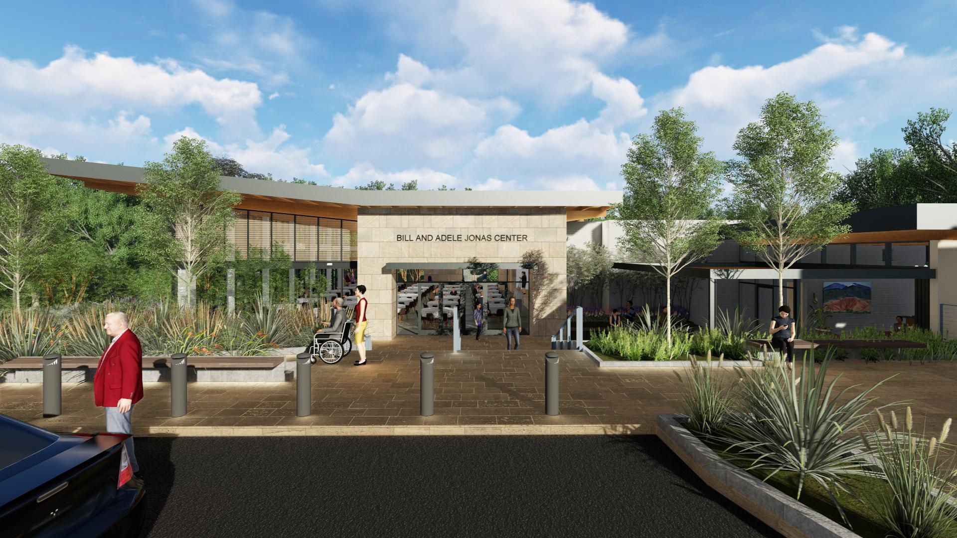 Jonas Center exterior view College Marin campus architecture design ©brick-inc