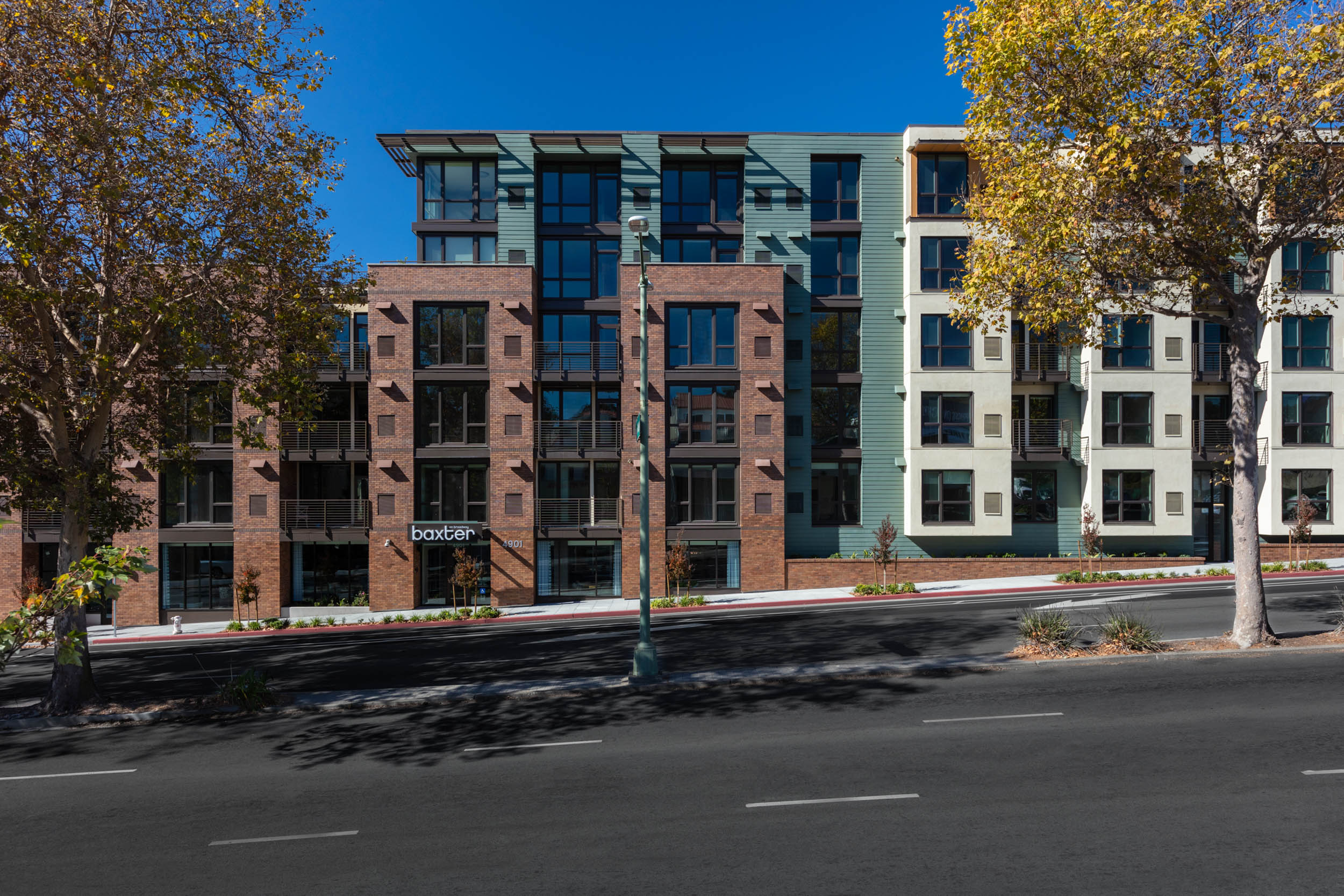 4901 Broadway Oakland apartment building exterior view architecture by brick-inc